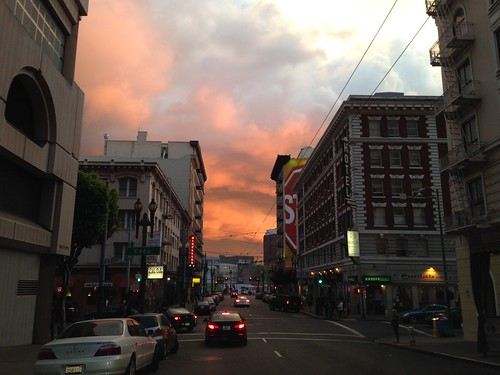 sanfrancisco california sunset usa america downtown 日落 美國 加州