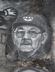 Raúl Modesto Castro Ruz, painted portrait _DDC2270