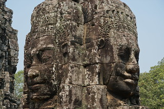 Smiling Bayon faces