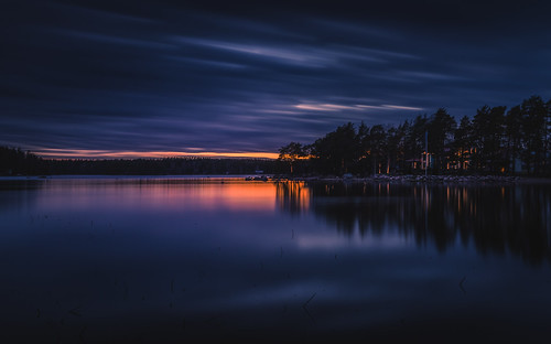 longexposure blue sunset sky reflection night evening nikon le nikkor jyrki d600 1635mm salmi ruonala