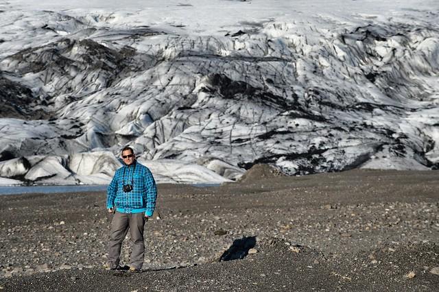 Sele en un glaciar de Islandia