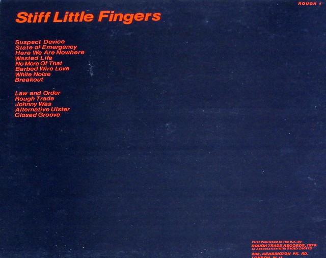 "STIFF LITTLE FINGERS INFLAMMABLE MATERIAL ROUGH 1 UK 12"" LP VINYL"