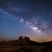 Moonlight and Milky Way by sundog02