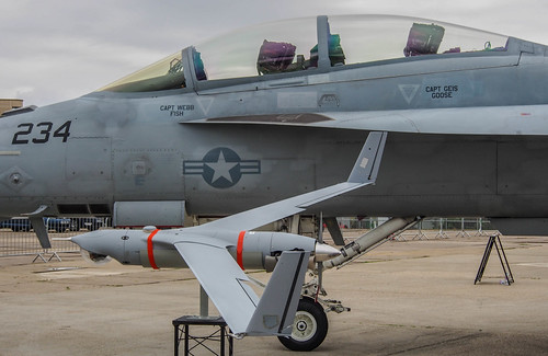 Scan Eagle and Super Hornet