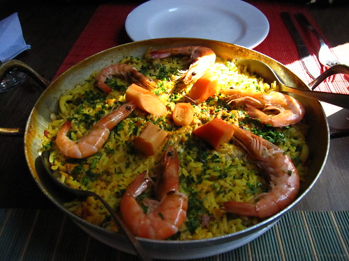 paella de mariscos at Euskaro Basque club, Montevideo, Uruguay