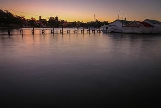 Sunset at Fresh water Bay