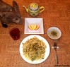 Seara (sea rabbit). Photo by Dr. Takeshi Yamada. 20120412 019 Chicken Spaghetti. Mushroom Soup with Parsely Frakes. sliced Apple. Black Tea