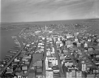 Aerial of downtown, 1963