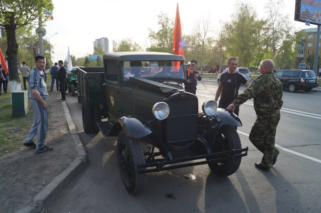 ГАЗ-АА на автопробеге в Красноярске