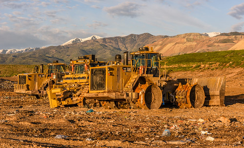 Bulldozers in the Trans Jordan Landfill by Geoff Livingston