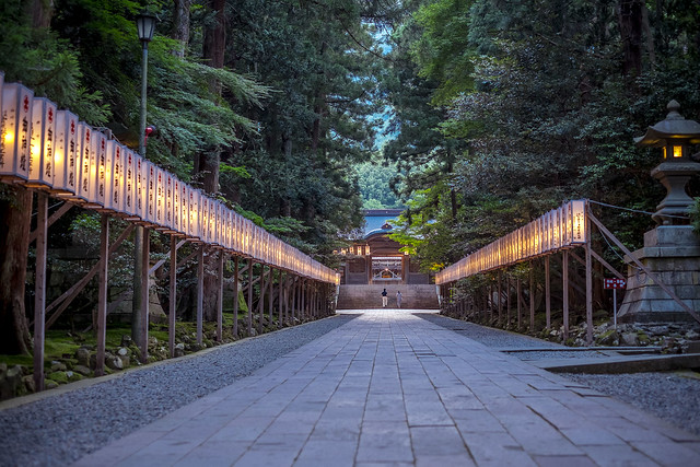 Dusk at Yahiko Shrine