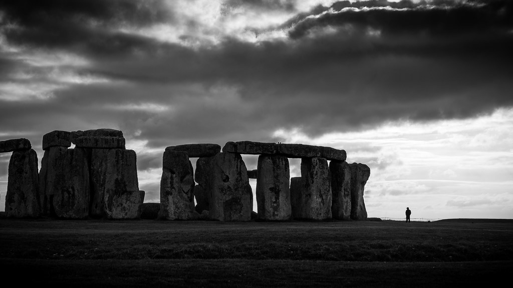 Stonehenge - Amesbury, United Kingdom - Black and white street photography