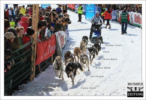 IFSS Schlittenhunde Weltmeisterschaft 2015, Todtmoos, Schwarzwald: Mikel Tharann, Deutschland