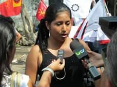 Unionist Maria Candelaria discusses victorious campaign for workers of STIT union affiliated with FUERSA in El Salvador