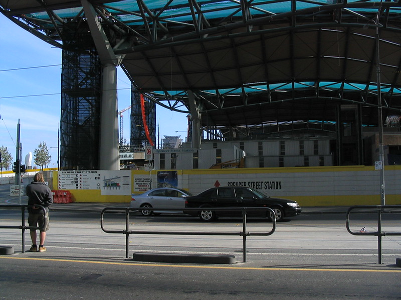 Southern Cross station under construction, April 2005