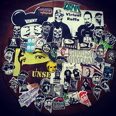 @onervirtual mega pack of excellent stickers! There is a huge Unseen sticker buried in the mix too. I have a perfect spot for that one