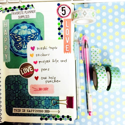 List 5: Favorite Planner Supplies