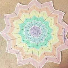 Pastel Starburst Blanket