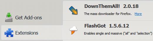 Install Firefox addon