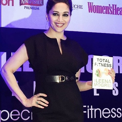 Madhuri always looks so pretty! @ Leena Mogre's Fitness #leenamogre #totalfitness #madhuridixit @madhuridixit @leenamogre