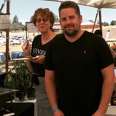 An amazing pair @johnnykenny of @formost and #chef @maegenloring of @ninerwinery @castorowinwry #earthdayfoodandwinefestival