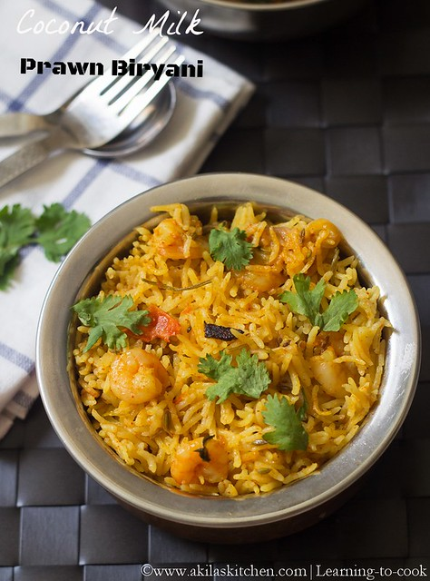 Coconut Milk Prawn Biryani