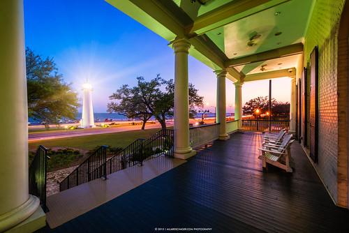 sunset usa lighthouse gulfofmexico mississippi biloxi visitorcenter 2015 verenigdestaten mississippisound nikkor1424mmf28 nikond800 allardschager