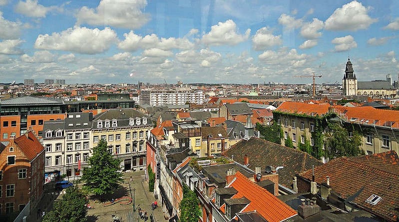 Panoramic view of Brussels