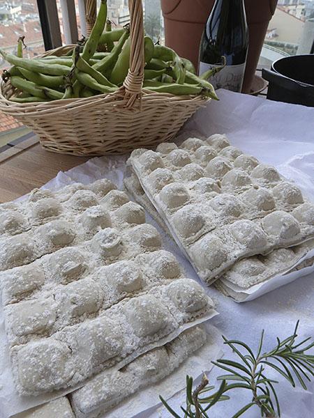 raviolis et fèves