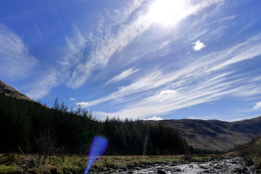 Streaky clouds from Glen Fyne
