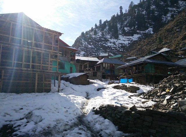 That's the Malana Village. Credits: Akshay Maggu