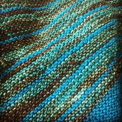 Stripe Study Shawl or: how I wait for FiOS. #knitting #knitstagram #intothewhirled #madelinetosh #piningforthefjords