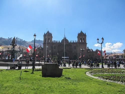 Cusco: la Plaza de Armas et la Cathédrale