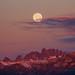 Summer Solstice Sunrise Moon Set by Jeffrey Sullivan