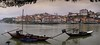 View of  traditional Portuguese Rabelo boats on Douro River