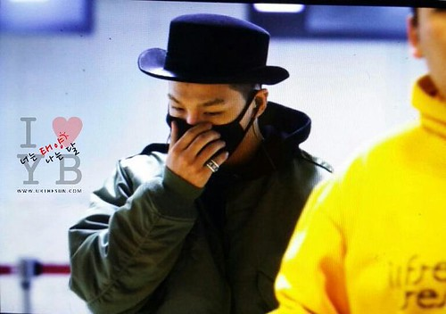 Big Bang - Gimpo Airport - 27feb2015 - Tae Yang - Urthesun - 01