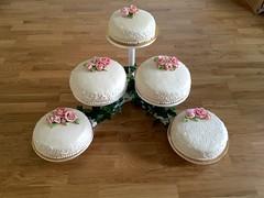 Wedding cake white/pink