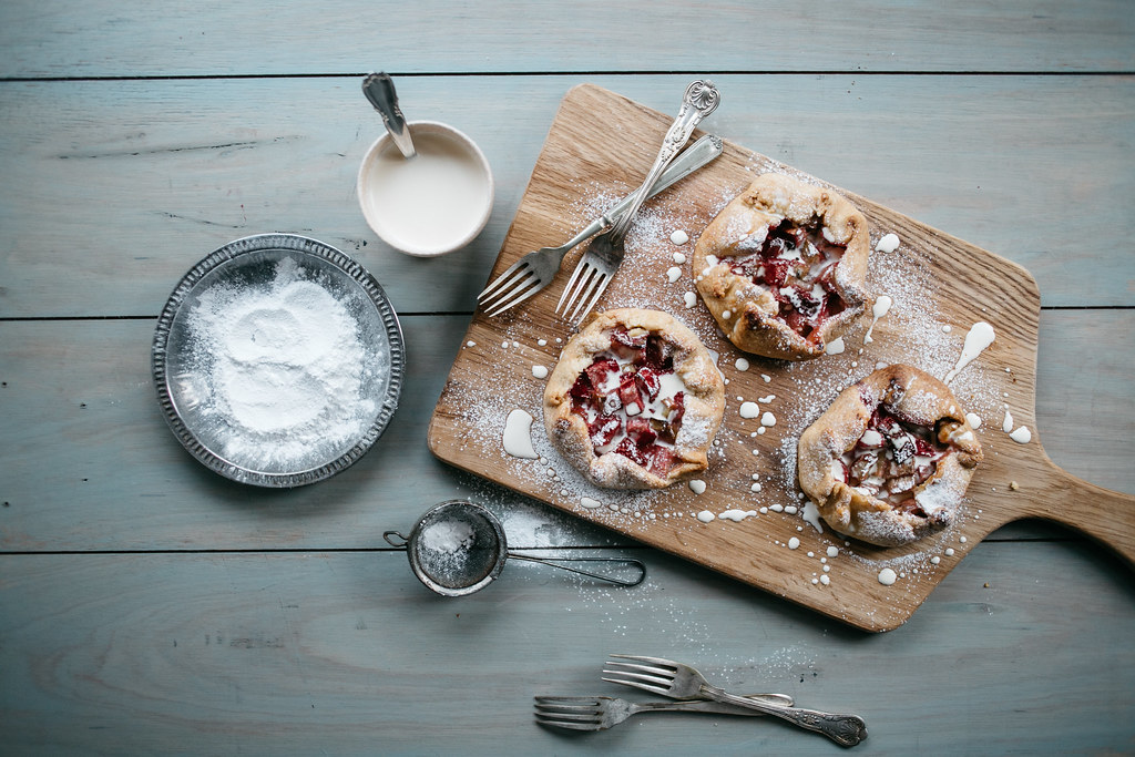Rhubarb & Strawberry Mini Galettes