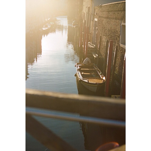 An early morning walk through Cannaregio can make you feel like the only tourist in all of Venice #traveldeeper #venice #film #35mm  #portra400 #leica #italy
