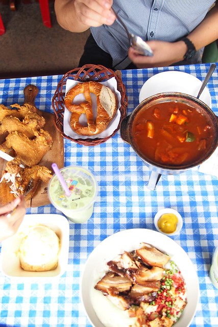 stew and pretzel, Salut Coffeeshop, 119 Bukit Merah Lane 1