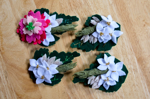 Felt Flower Boutonnières