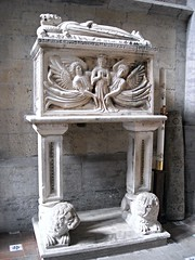 Sepulchre of Mary of Durazzo / Duras (†1371), daughter of the King Charles III, by unknown Neapolitan sculptor (after 1381) - San Lorenzo Maggiore Church in Naples