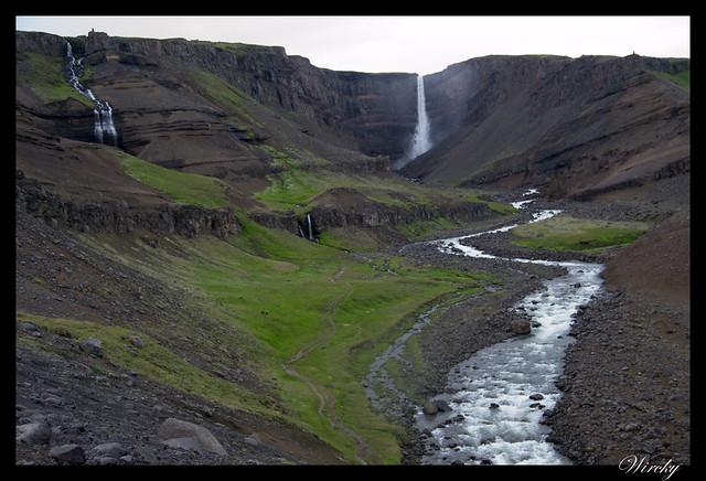Cascada Hengifoss en Islandia