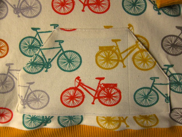 Bicycle print baby hoodie and pants