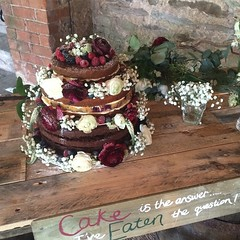 Cake is the answer... I've eaten the question #wedding #cake