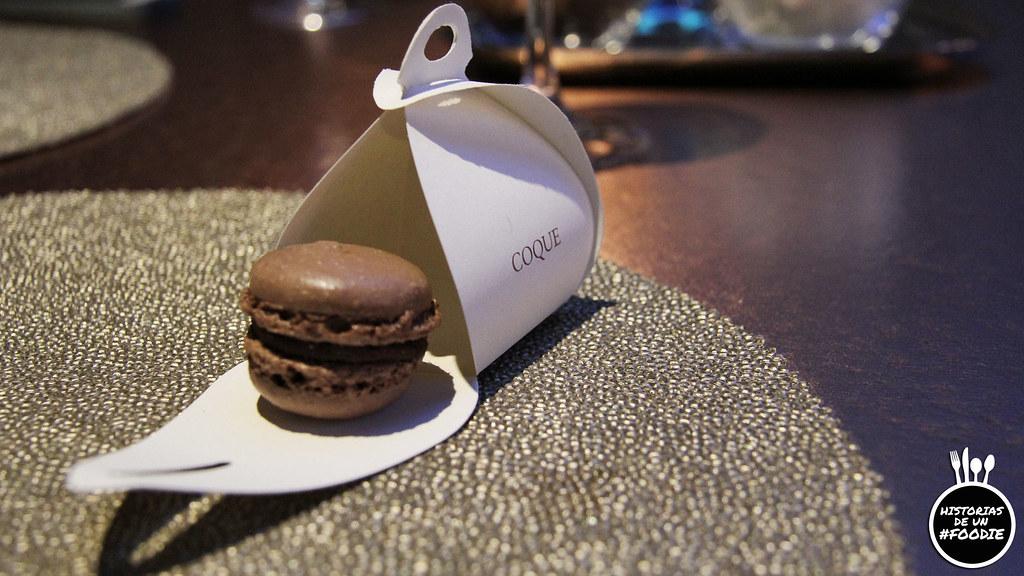 Macarón de chocolate