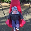 Mid swing, a shout of happiness from my travelling companion.