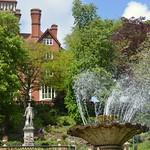 Windy fountain at Miller Park, Preston