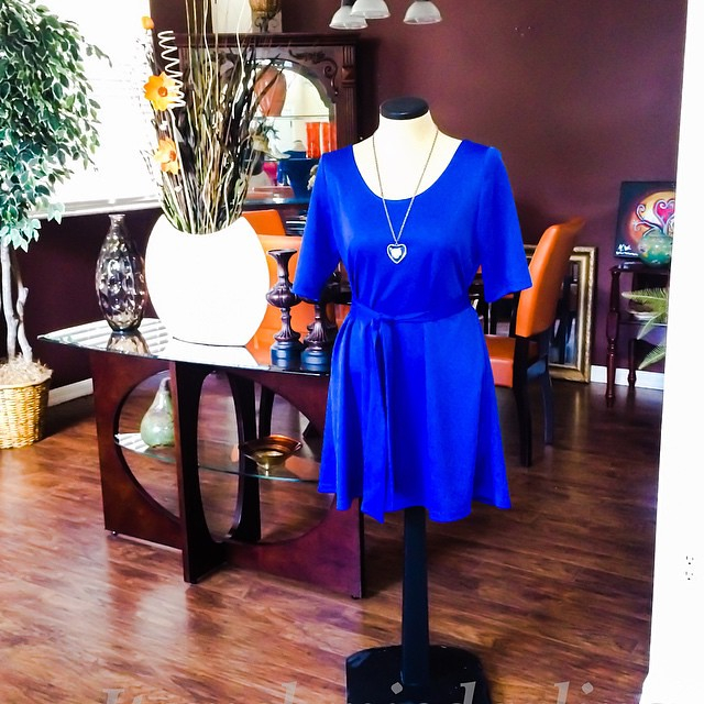 And she's done!  Royal Blue Swing Dress!  Simple and chic!  Will share styling shortly so stay tuned!  Details on the blog soon, blog address in profile  #Itsmelaniedarling #sewologist #seamstress #sewing #sewist #sewcialist #sewingblogger #asewinglife #i