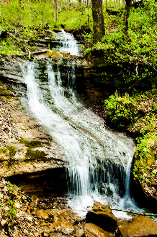 Hoosier National Forest Waterfall - Martin County - April 24, 2015